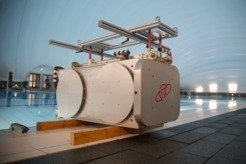 Antenna model of the observation system is ready for underwater training of cosmonauts